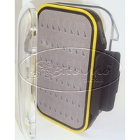 FLY BOX HOLDS 235 FLIES DOUBLE SIDED WATERPROOF STORAGE BOX - YELLOW