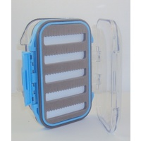 MINI FLY BOX HOLDS 150 FLIES DOUBLE SIDED WATERPROOF STORAGE BOX [Colour: BLUE]