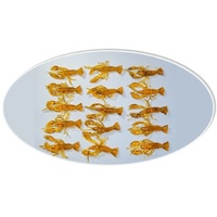 15x Gold 50mm Prawn Yabby Plastic Fishing Lures