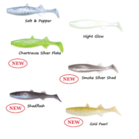 "5"" Culprit Riptide NiteGlow Mullet Soft Bait Lures Bass Bream Barra Queenie Jack"