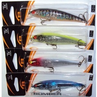 4x Bomber B14 Long A Fishing Lure Redhead Chartreuse Tiger Lilly Barra Jack Bass