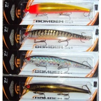 4x Bomber 15 Long A Barra Fishing Lures Gold Chrome Pink Silver Prism Barramundi