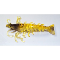 "3.5"" Unrigged Bite Me Real Shrimp Wedgies - Gold"