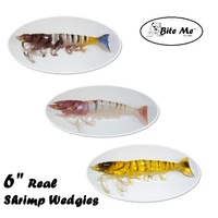 "6"" Bite Me Lures Real Shrimp Wedgies Prawn Lures + Scent"
