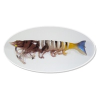 "6"" Bite Me Lures Real Shrimp Wedgies - Tiger Prawn"