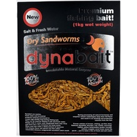 Dynabait Freeze Dried Sandworms Bulk 200g Pack Equiv-1KG