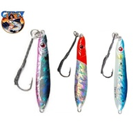 3x 80g Gypsy MICRO JIGS Butterfly Metal Jig Fishing Lures Snapper Jigging GLOW BELLY