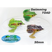 3x Little Lure Shop Topwater Surface Popper Soft Plastic Frogs Toad Fishing Lures