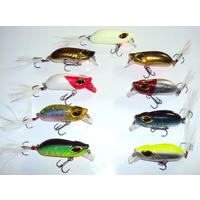 9 Freshwater Crankbait Fishing Lures Yellowbelly Murray Cod Bass Bream Flathead Crank Bait