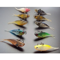 Soft Plastic Micro Vibe Fishing Lures 55mm Bass Bream Trout Jack Freshwater Lure