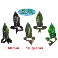 5 Soft Plastic Frog Fishing Lures 60mm Topwater Surface Lure Green Toad Cod Bass
