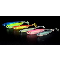 6x Soft Plastic Flash Paddler Freshwater Swimbait Paddle Tail Shad Fishing Lures