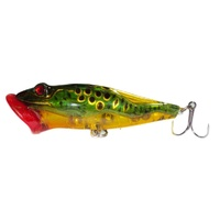 "3"" Freshwater Frog Fishing Lures T- Green/Gold"