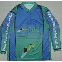 The Little Lure Shop Long Sleeve Tournament Fishng T Shirt - XXS-7XL