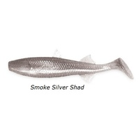 "3"" Riptide Mullet - Smoke Silver Shad"