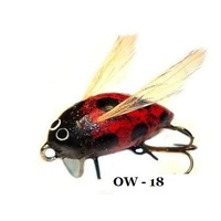 "1"" Handmade Winged Insect Fly Fishing Flies - Ladybug"