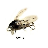 "1"" Handmade Winged Insect Fly Fishing Flies- Coffee/Black"