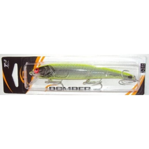 BOMBER B15 Silver Flash Chartreuse AXSICH FISHING LURES