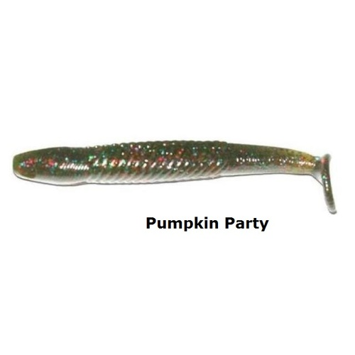 120mm Bruiser Baits Green Pumpkin Paddle Lures