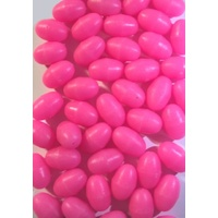 Bite Me Lures Oval Pink GLOW Beads: 25 Pieces
