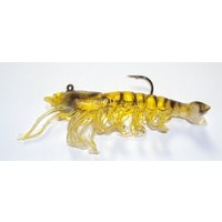 "3.5"" Bite Me Lures 1/4oz Real Shrimp Wedgies - Gold"