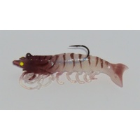 "3.5"" Bite Me Lures 1/4oz Real Shrimp Wedgies - Natural"
