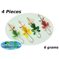 4x Soft Plastic FROG Fishing Lures Buzzbait Frogs Spinnerbait 3/0 Weedless Hooks