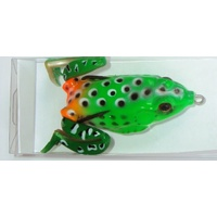Soft Plastic Frog Fishing Lures 60mm Green Orange Topwater Surface Lure