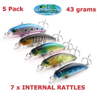 70mm Bream Redfin Freshwater Fishing Lures Flathead Bass Perch Tailor Cod Jack Lures