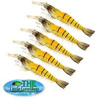 5X Soft Plastic Prawn Shrimp 10cm Fishing Lures