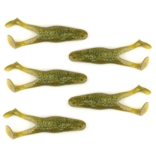 "4"" LLS Soft Plastic Frog Fishing Lures Kicking Frog Baby Bass Pumpkin"
