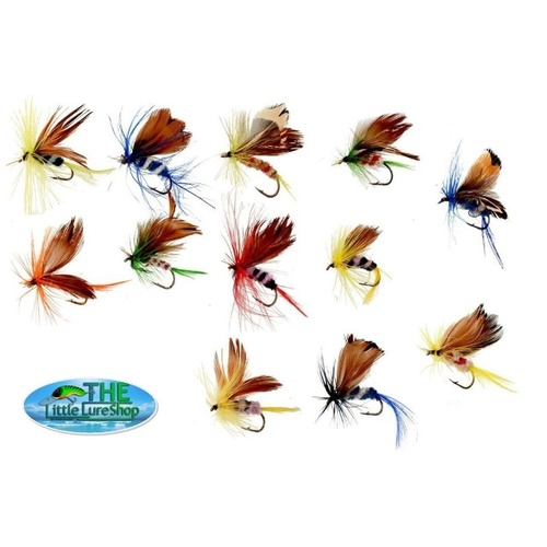 12 Dry Fly Fishing Flies Lures Butterfly Trout Hooks Tackle Freshwater