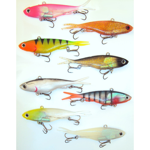 8 Soft Plastic Vibe Fishing Lures 115mm Transam Like Lures Barra Snapper Jack